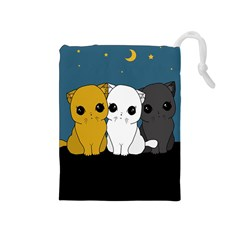 Cute Cats Drawstring Pouches (medium)