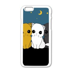 Cute Cats Apple Iphone 6/6s White Enamel Case