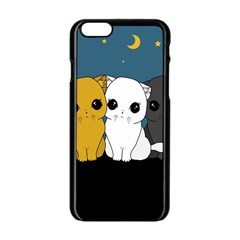 Cute Cats Apple Iphone 6/6s Black Enamel Case