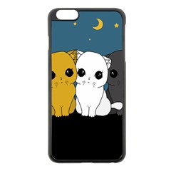 Cute Cats Apple Iphone 6 Plus/6s Plus Black Enamel Case