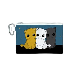 Cute Cats Canvas Cosmetic Bag (s)