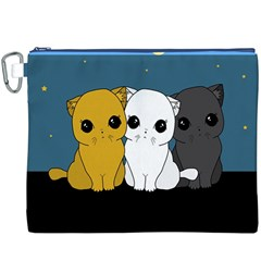 Cute Cats Canvas Cosmetic Bag (xxxl)