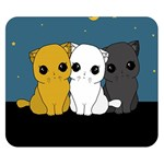 Cute cats Double Sided Flano Blanket (Small)  50 x40 Blanket Back