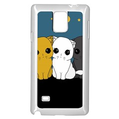 Cute Cats Samsung Galaxy Note 4 Case (white)