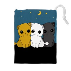 Cute Cats Drawstring Pouches (extra Large)