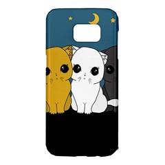 Cute Cats Samsung Galaxy S7 Edge Hardshell Case