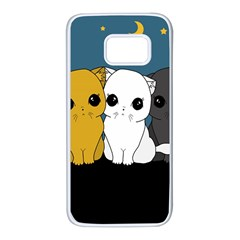 Cute Cats Samsung Galaxy S7 White Seamless Case