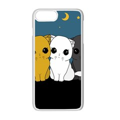 Cute Cats Apple Iphone 7 Plus White Seamless Case