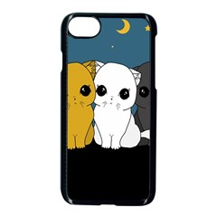 Cute Cats Apple Iphone 7 Seamless Case (black)