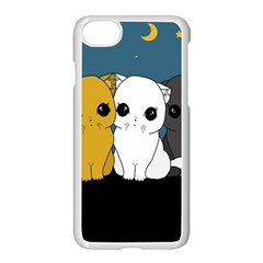 Cute Cats Apple Iphone 7 Seamless Case (white)