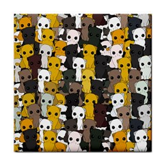 Cute Cats Pattern Tile Coasters