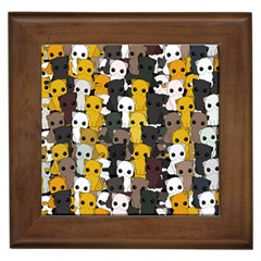 Cute Cats Pattern Framed Tiles