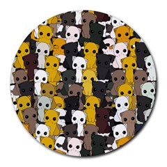 Cute Cats Pattern Round Mousepads