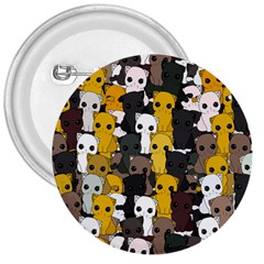 Cute Cats Pattern 3  Buttons