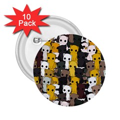 Cute Cats Pattern 2 25  Buttons (10 Pack)
