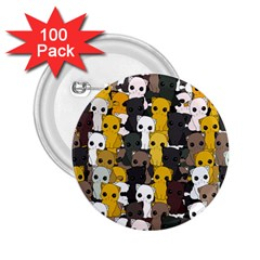 Cute Cats Pattern 2 25  Buttons (100 Pack)