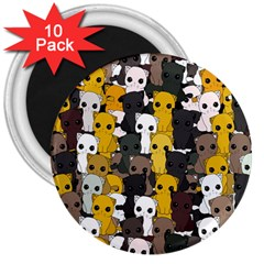 Cute Cats Pattern 3  Magnets (10 Pack)