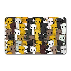 Cute Cats Pattern Magnet (rectangular)
