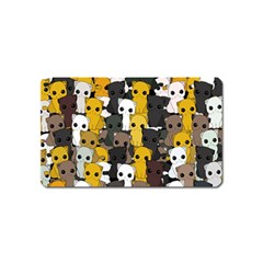Cute Cats Pattern Magnet (name Card)