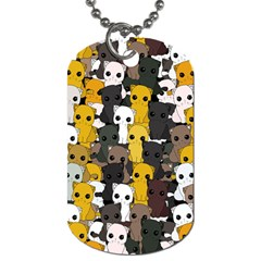 Cute Cats Pattern Dog Tag (one Side)