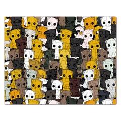 Cute Cats Pattern Rectangular Jigsaw Puzzl