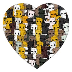 Cute Cats Pattern Jigsaw Puzzle (heart)