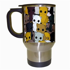 Cute Cats Pattern Travel Mugs (white)