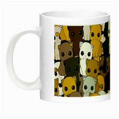 Cute Cats Pattern Night Luminous Mugs