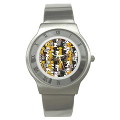 Cute Cats Pattern Stainless Steel Watch
