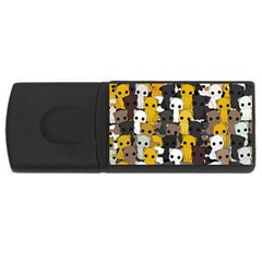Cute Cats Pattern Rectangular Usb Flash Drive