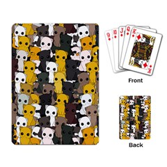 Cute Cats Pattern Playing Card