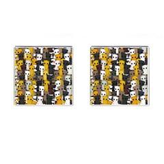 Cute Cats Pattern Cufflinks (square)