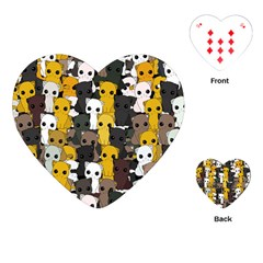 Cute Cats Pattern Playing Cards (heart)