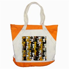 Cute Cats Pattern Accent Tote Bag