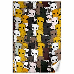 Cute Cats Pattern Canvas 20  X 30