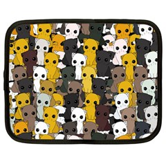Cute Cats Pattern Netbook Case (large)