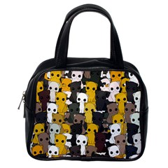 Cute Cats Pattern Classic Handbags (one Side)