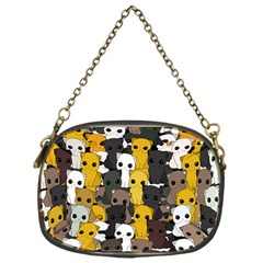 Cute Cats Pattern Chain Purses (one Side)