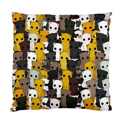 Cute Cats Pattern Standard Cushion Case (two Sides)
