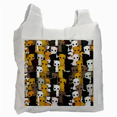 Cute Cats Pattern Recycle Bag (one Side)