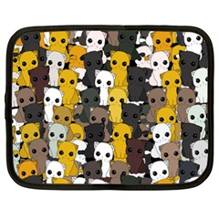 Cute Cats Pattern Netbook Case (xxl)