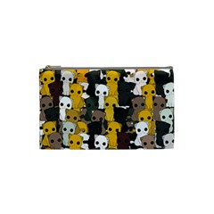 Cute Cats Pattern Cosmetic Bag (small)