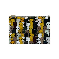 Cute Cats Pattern Cosmetic Bag (medium)