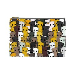 Cute Cats Pattern Cosmetic Bag (large)