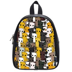 Cute Cats Pattern School Bag (small)