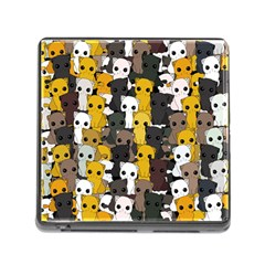 Cute Cats Pattern Memory Card Reader (square)