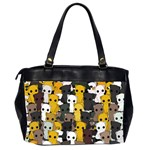 Cute cats pattern Office Handbags (2 Sides)  Back