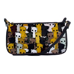 Cute Cats Pattern Shoulder Clutch Bags