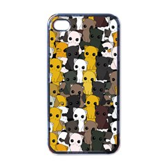 Cute Cats Pattern Apple Iphone 4 Case (black)