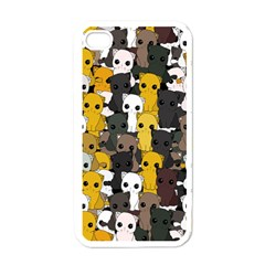 Cute Cats Pattern Apple Iphone 4 Case (white)